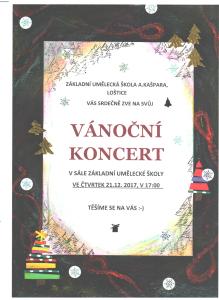 Vánoční koncert 2017